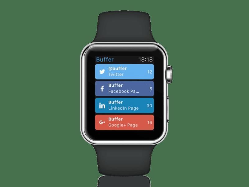Buffer for Apple Watch