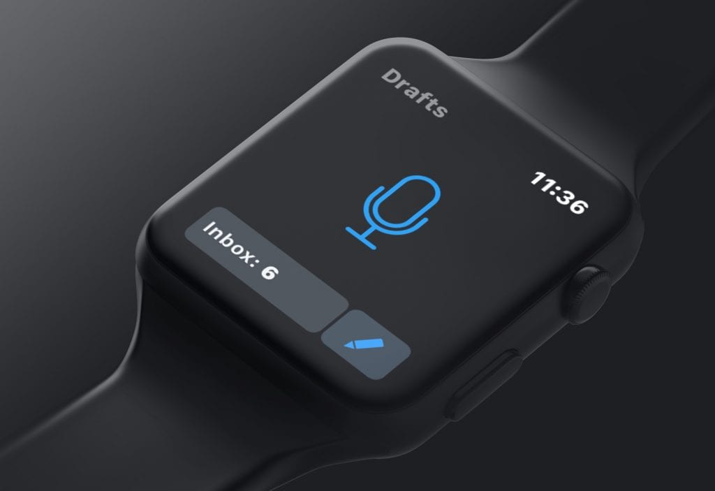 Drafts app for apple watch